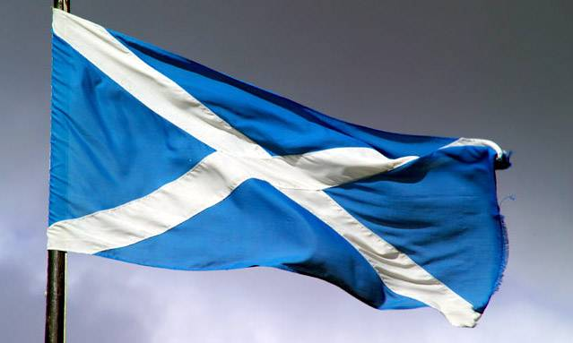 The Flag of Scotland.