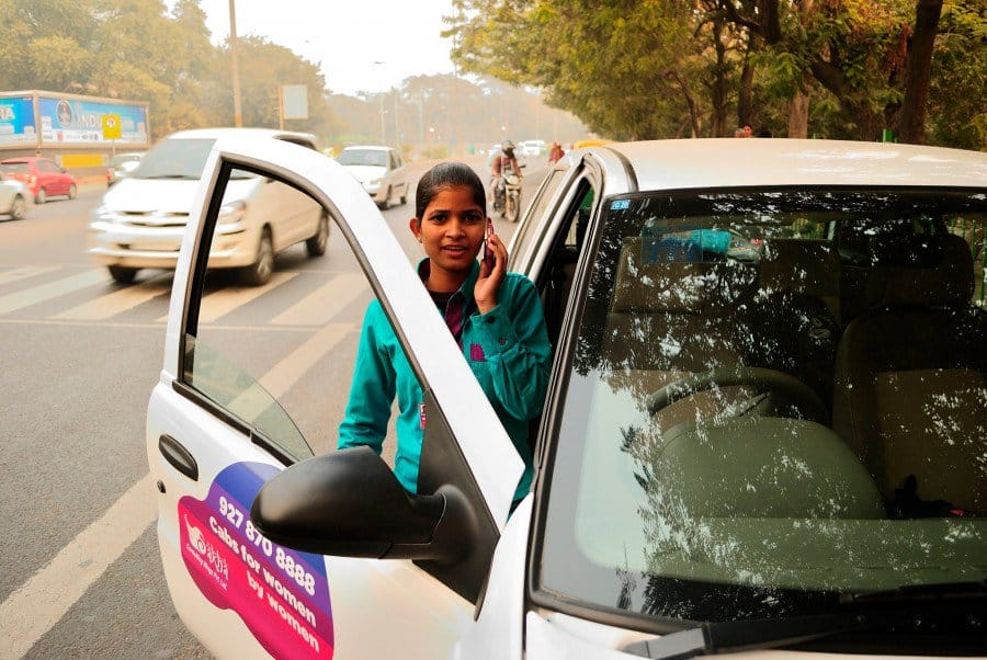 Women on wheels, a StartUp supported for-women-of-women cab service.