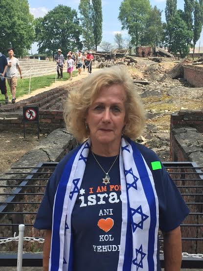 Auschwitz II - Birkenau - I, the writer am standing by the destroyed gas chamber.