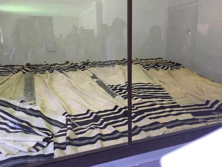 Auschwitz I - Jewish prayer shawls; to the last minute of life believing in God.