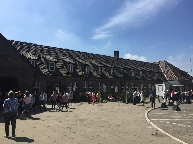 Auschwitz I-the entrance building believed to be the offices of the camp