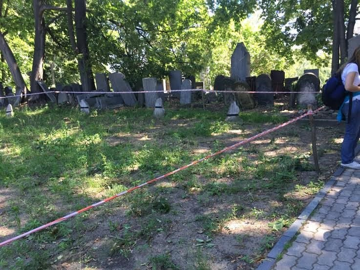 Brothers' grave-25,000 Jews were buried like this in this cemetery when the Judenrat picked them up in the streets of Warsaw.