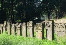A row of graves.
