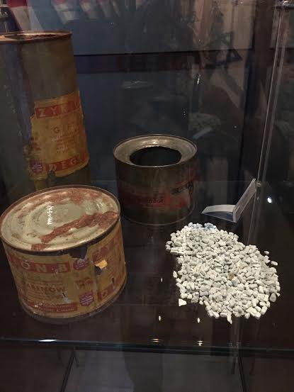Majdanek - Zyklon-B canister and its contents.