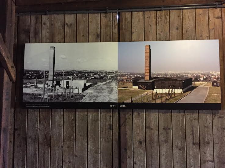 Majdanek - gas chamber and crematorium then and now.