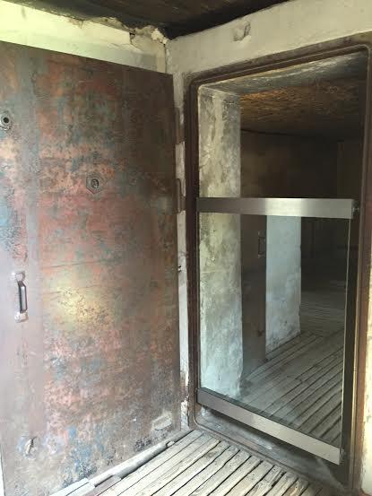 Majdanek - metal door to the gas chamber.