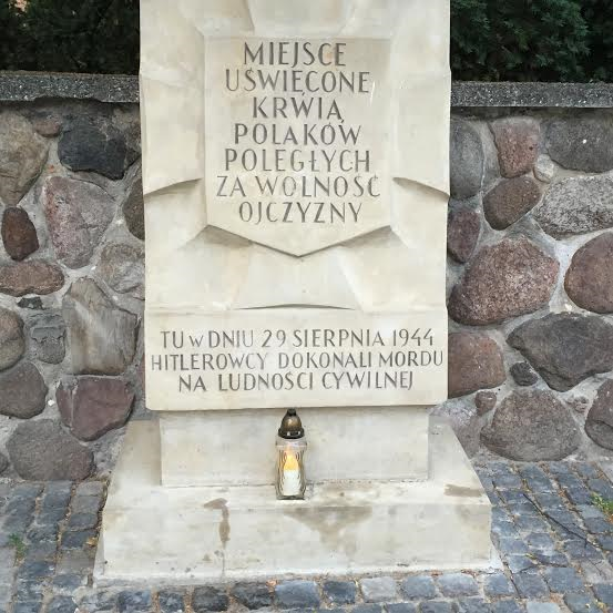 Plague for fallen in the Polish uprising against the Nazis many like this one in town.