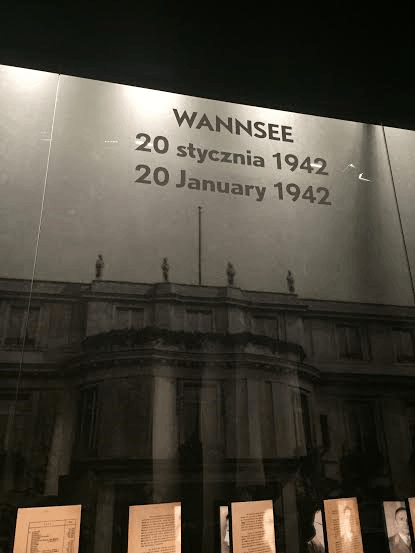 Polin Museum-Wannsee where the Nazis decided on the Final Solution for Jews.
