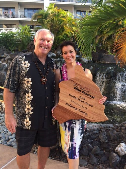 bellamy young and leo sears at Big Island Film Festival 2016.
