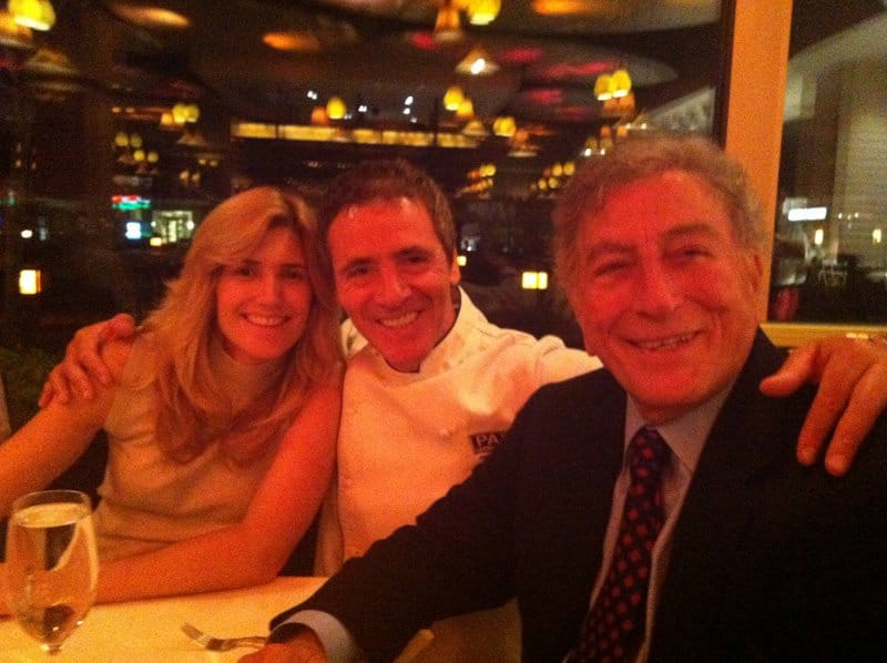 chef luciano with his wife and tony bennett.