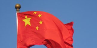 china flag.