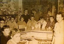 dad in the pronto pup creamery.