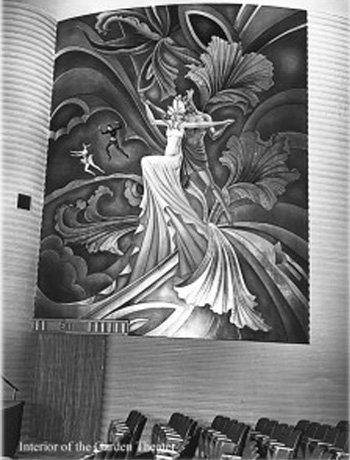 the garden theatre mural.