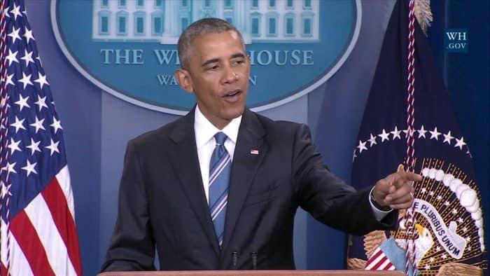 President Barack Obama at the White House.