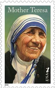 Mother Teresa stamp.