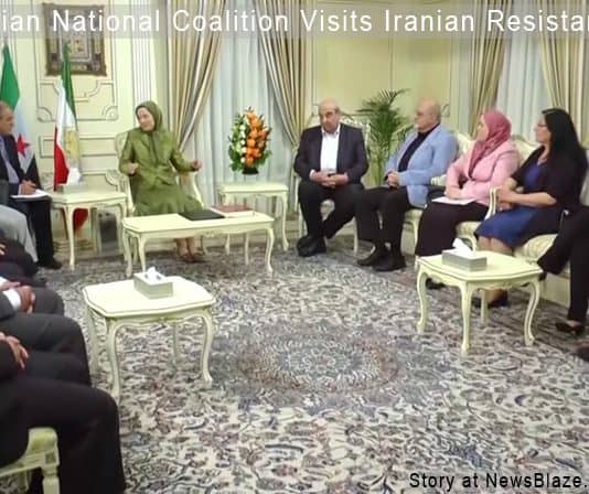 syrian national coalition visits iranian resistance