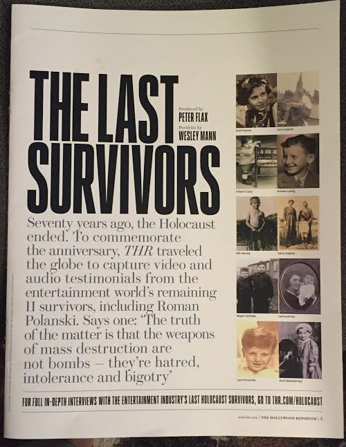 The Last Survivors cover. Photo: Nurit Greenger.