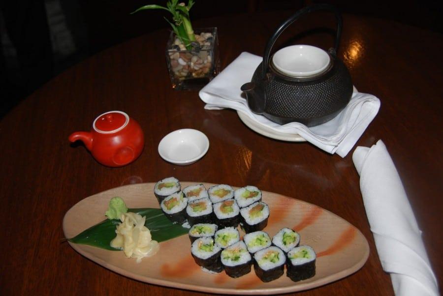 typhoon vegetarian plum sushi.