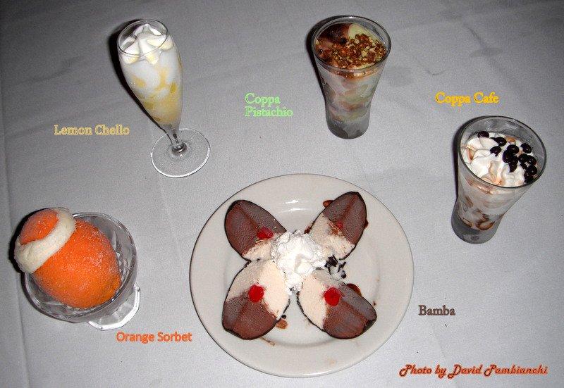 Villa Erasmo Ristorante desserts.