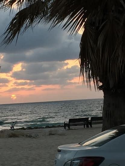 Ashkelon at sunset.