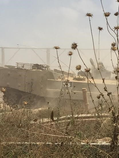 IDF tank patrolling the border.