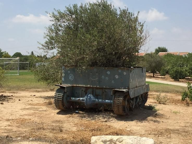 Remnants of 1948 Egyptian armored vehicle left from a battle of that time.