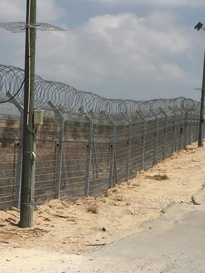 Kfar Aza border fence.