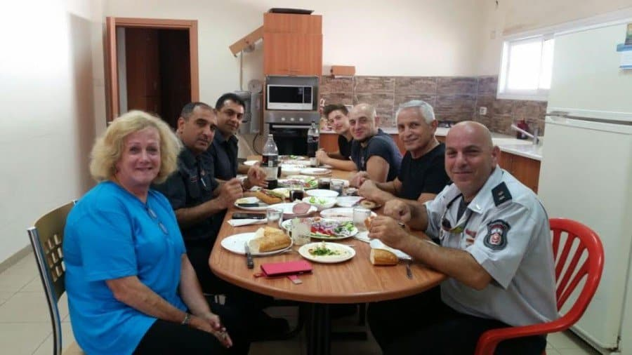 I am a guest for breakfast at a Haifa fire fighters substation