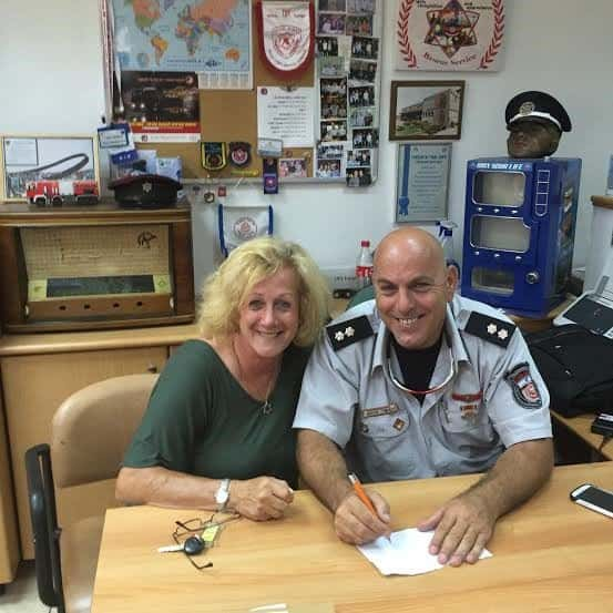 I am at the Haifa command fire fighters station with Uri Chobotaro, the spokesperson
