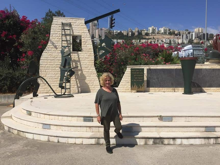 I stand at the entrance to Haifa command fire fighters' station.