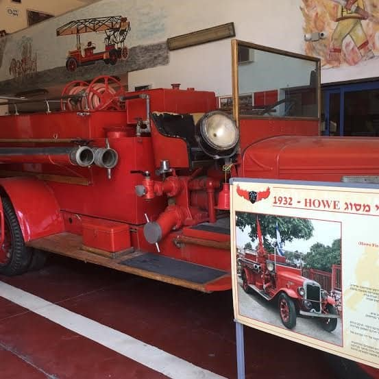 One of the exhibits, a fire car from early 20th century, now in storage