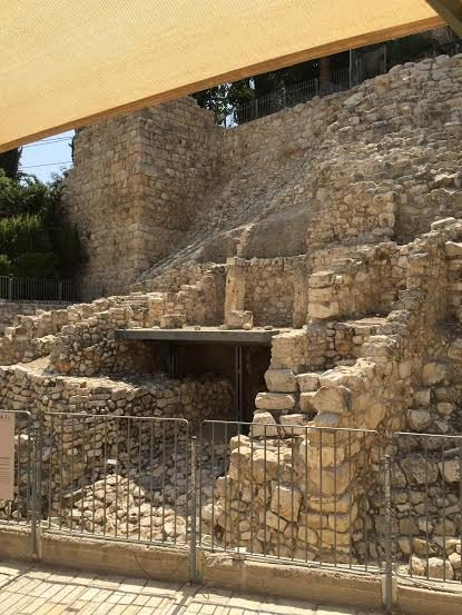 Jerusalem - King David City - ruins of a home of a signatory from first Temple era.
