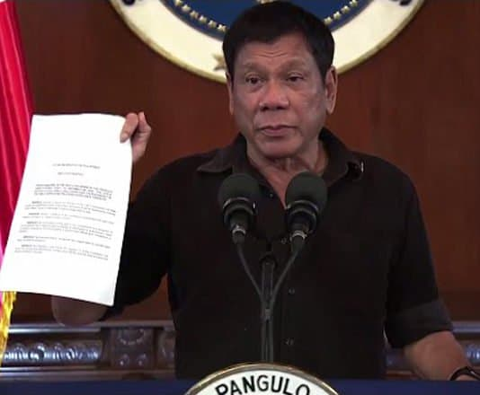 Philippine President Duterte discloses names of top-level drug lords.