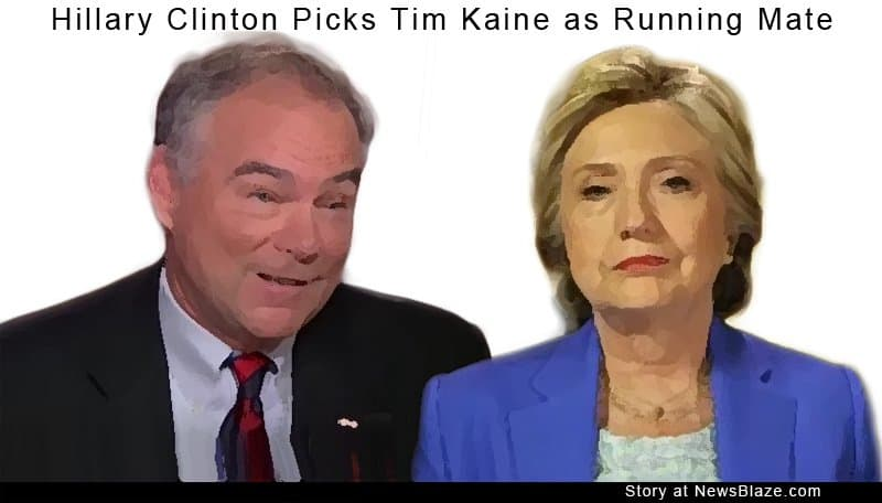 Hillary Clinton Picks Tim Kaine.