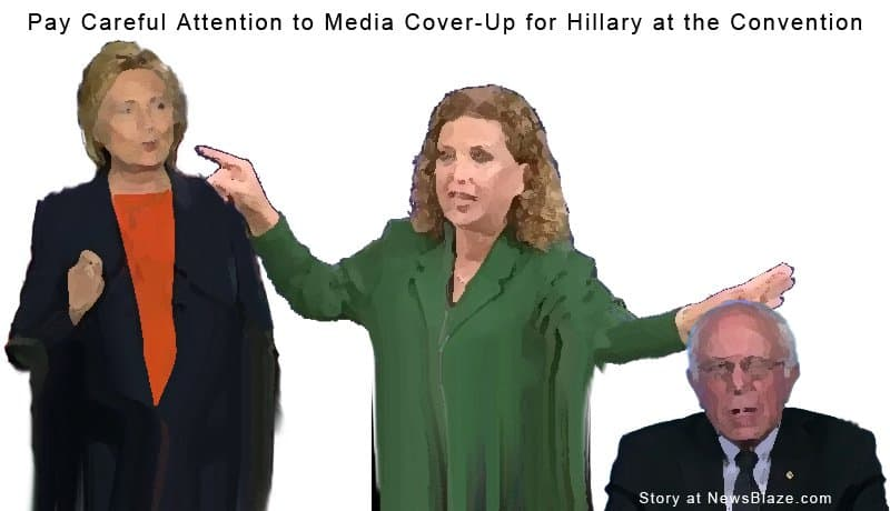 watch for a media cover-up for hillary after Wasserman Schultz raised her at Bernie's expense.