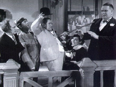 Battle for the Second Amendment. Disorder in the Court - Three Stooges - Copyright expired
