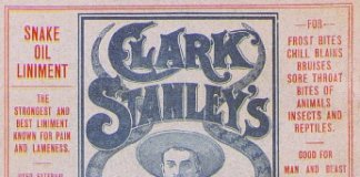 Clark Stanley's Snake Oil Liniment label.