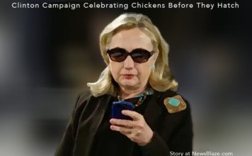 clinton campaign celebrating chickens before they hatch.