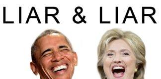 Obama, pathological liar and Hillary Clinton, compulsive liar.