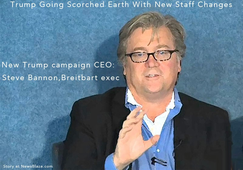 Trump Staff Changes include campaign CEO, Steve Bannon.
