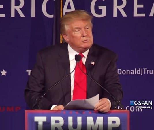 Trump speaks about muslim immigration.