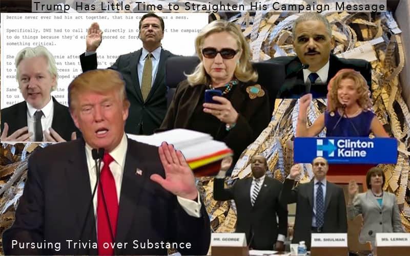 trump pursuing trivia over substance.