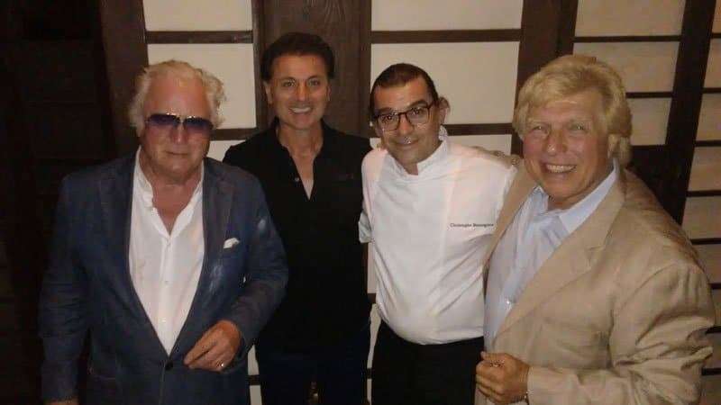 Clement von Franckenstein, Armando Rapino, Executive Chef Christophe Bonnegrace, and Pete Allman