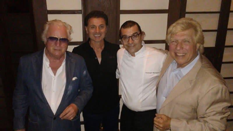 Clement von Franckenstein, Armando Rapino, Executive Chef Christophe Bonnegrace, and Pete Allman