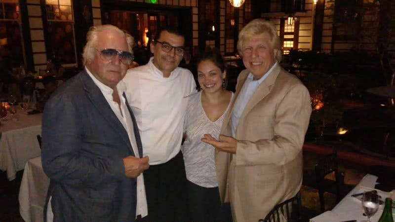 Clement von Franckenstein, Chef Christophe Bonnegrace, Nicole Galati, and Pete Allman.