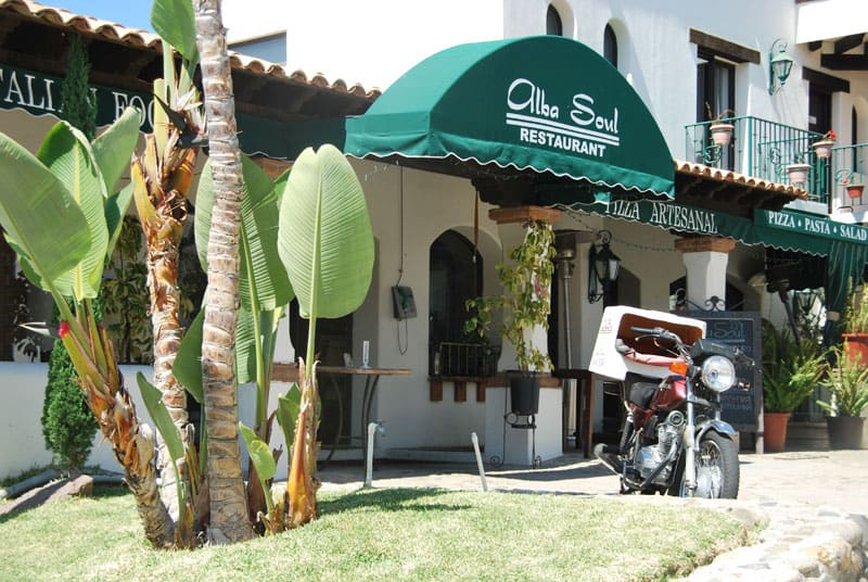Alba Soul Italian restaurant entrance.