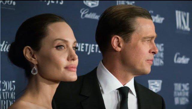 Angelina Jolie and Brad Pitt. youtube screenshot