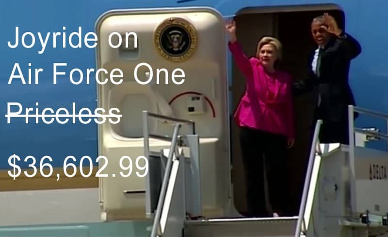 Clinton, Obama on Air Force One