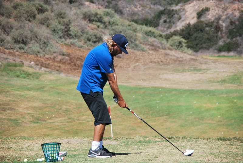 Golfer at Real del Mar.