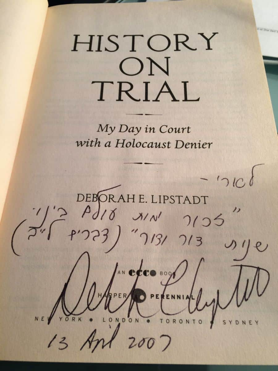 history on trial signed copy.